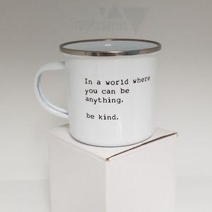 Stainless steel lightweight enamel coating mug